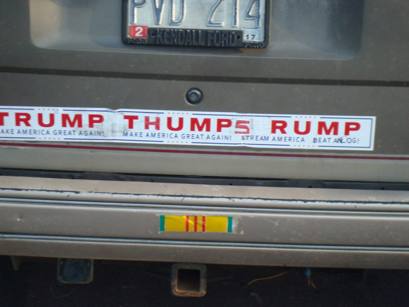 Trump Rally bumper stickers