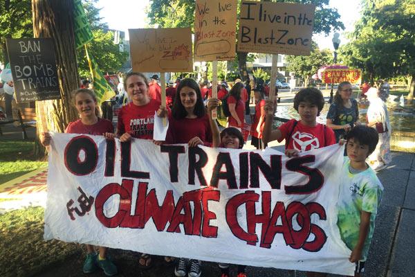 Oil Train Protest