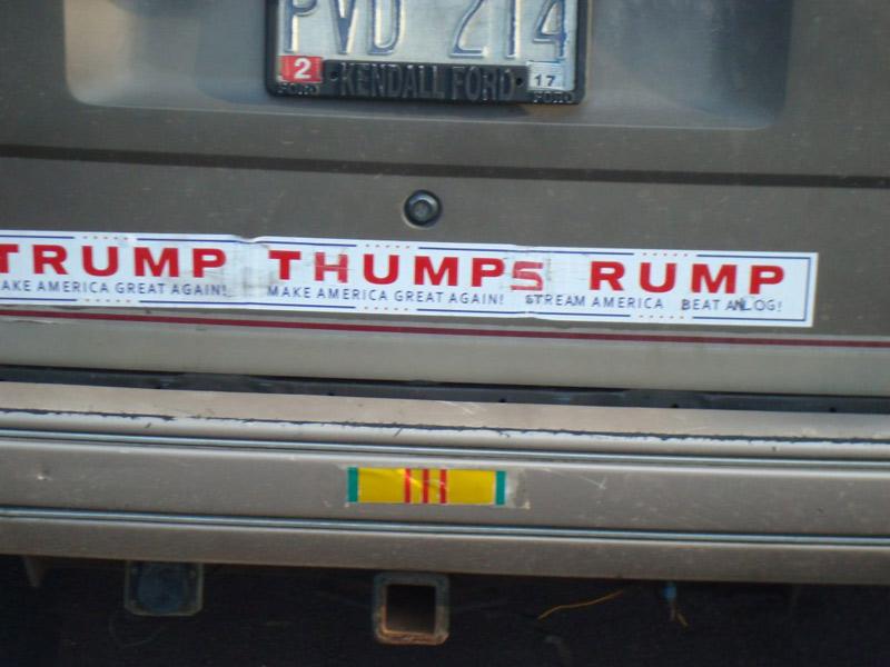 Trump Rally bumper stickers