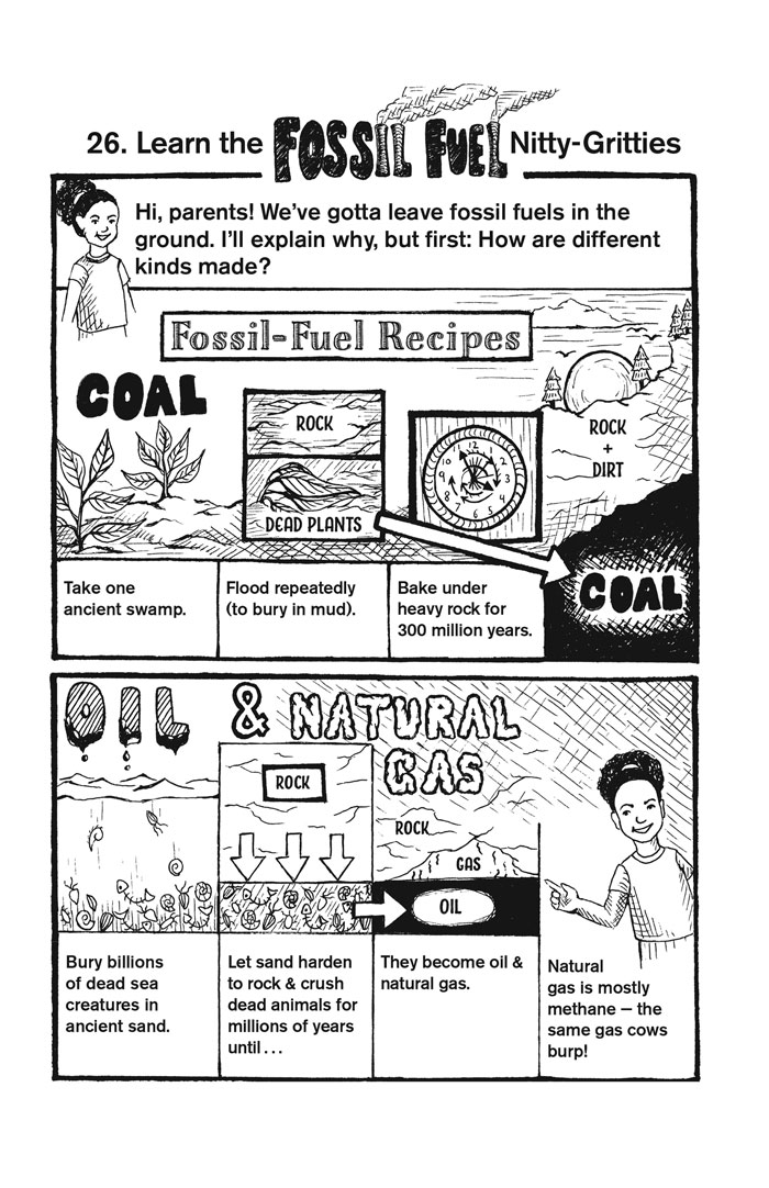 Fossil Fuel nitty gritties cartoon, mary democker