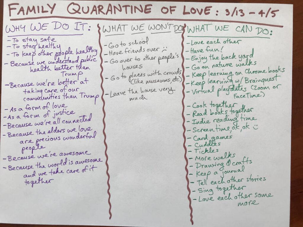 family quarantine love chart covid mary democker